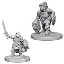 Load image into Gallery viewer, D&D Nolzur's Marvelous Miniatures - Dwarf Female Paladin - Unpainted (WZK72631)