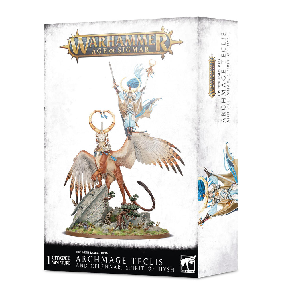 Games Workshop: Age of Sigmar - Lumineth Realm-Lords -  Archmage Teclis and Celennar, Spirit of Hysh (87-53)