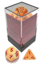 Load image into Gallery viewer, Chessex: Festive Sunburst w/ Red - Polyhedral Dice Set (7) -  CHX27453