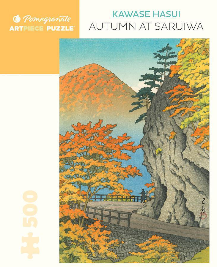 Pomegranate ArtPiece Puzzles: Kawase Hasui - Autumn at Saruiwa - 500 Piece Puzzle