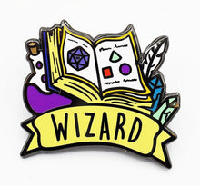 Load image into Gallery viewer, Foam Brain Games: Banner Class Pins - Wizard