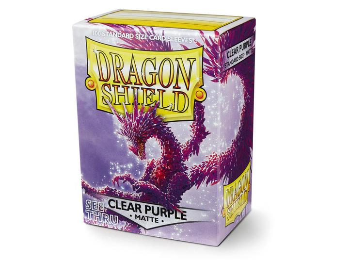 Dragon Shield: Deck Protector Sleeves - Standard Size Matte Clear Purple (100)