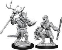 Load image into Gallery viewer, D&D Nolzur's Marvelous Miniatures: Lizardfolk & Lizardfolk Shaman- Wave 12 Unpainted (WZK90074)