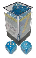 Load image into Gallery viewer, Chessex: Luminary Sky w/ Silver- 16mm d6 Dice Set (12) - CHX27766