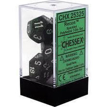 Load image into Gallery viewer, Chessex: Speckled Recon Green w/ White - Polyhedral Dice Set (7) - CHX25325
