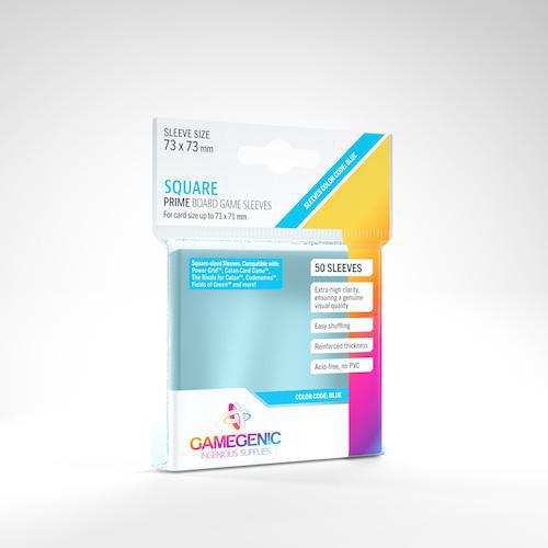 GameGenic: PRIME Board Game Sleeves - 73 x 73mm Square-Sized (50) (GG1046)
