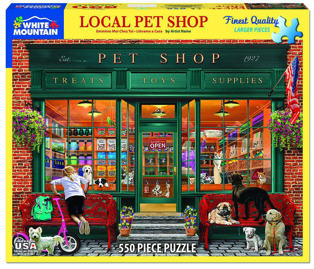 White Mountain Puzzles: Local Pet Store - 550 Piece Puzzle