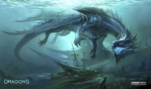 "Load image into Gallery viewer, GamerMats: 'Dragon from the Depths' 14""x24""&1/8"" Stitched Gaming Playmat"