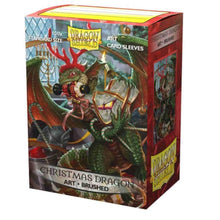 Load image into Gallery viewer, Dragon Shield: Art Deck Protector Sleeves - Standard Size '2020 Christmas Dragon' (100)