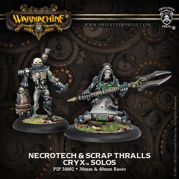 Privateer Press: Warmachine - Cryx Necro-Tech with Scrap Thrall Blister