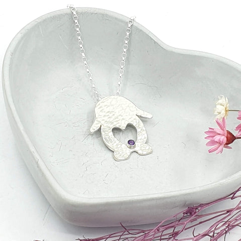 Harry Love Heart Bunny Rabbit Necklace