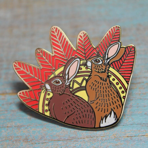 Fiver and Hazel Watership Down Pin - by Lyndsey Green