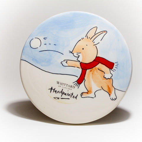 Pair of Whittard Snowball Bunny Coasters