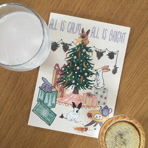 All is Calm - Rabbit Retail Holiday Card