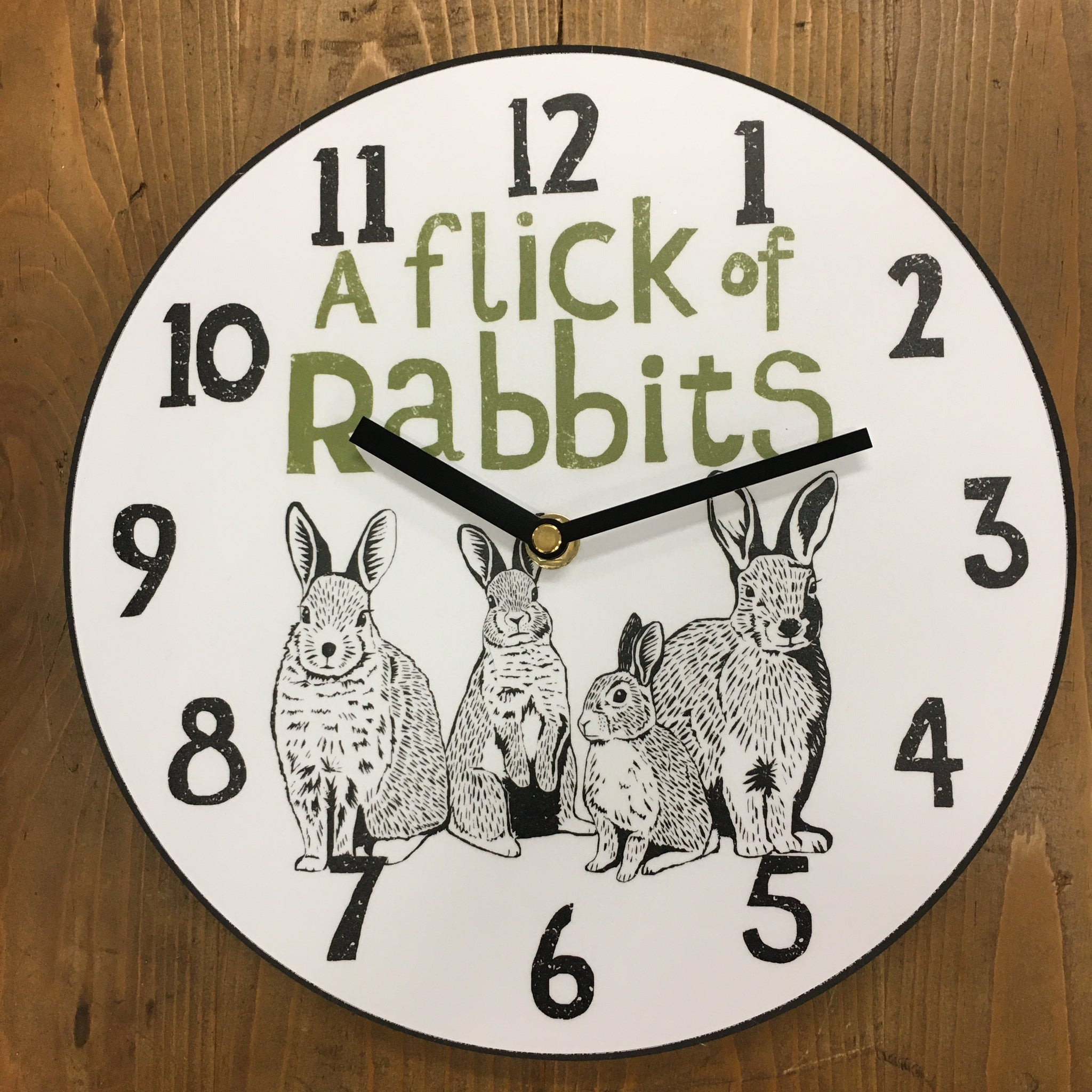 Flick of Rabbits Clock - by Perkins and Morley