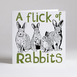 Flick of Rabbits Card - by Perkins and Morley