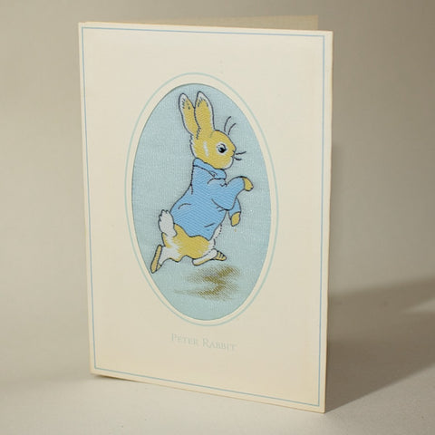 Vintage J&J Cash's Peter Rabbit Woven Silk Card