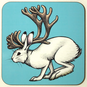 Jackalopes of the World Coaster - by Lyndsey Green
