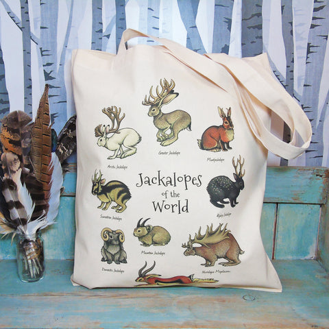 Jackalopes of the World Tote Bag - by Lyndsey Green