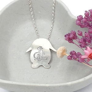 Personalised Lola Lop Bunny Rabbit Necklace
