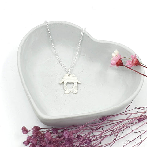 Lola Lop Love Heart Bunny Rabbit Necklace