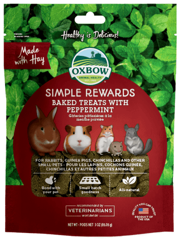 Oxbow Simple Rewards Baked Treats with Peppermint