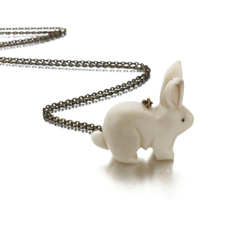 Tagua Rabbit Necklace