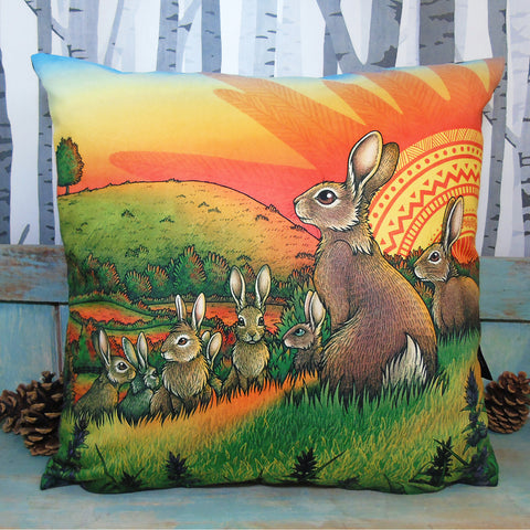 Watership Down Cushion Cover - by Lyndsey Green