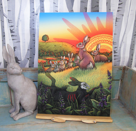 Watership Down A3 Giclee Print - by Lyndsey Green