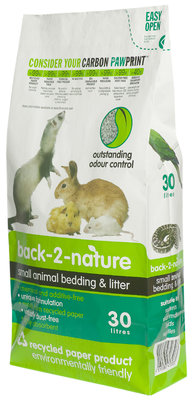 30 litre bag of back to nature litter for rabbits