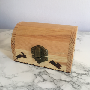 Field of Bunnies Wooden Keepsake Box