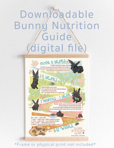 Downloadable Bunny Nutrition Guide - by Tina Schofield