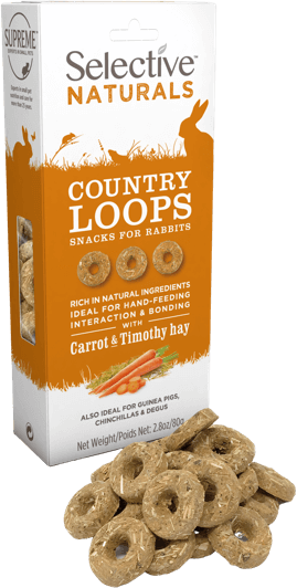 Selective Naturals Country Loops with Carrot and Timothy Hay