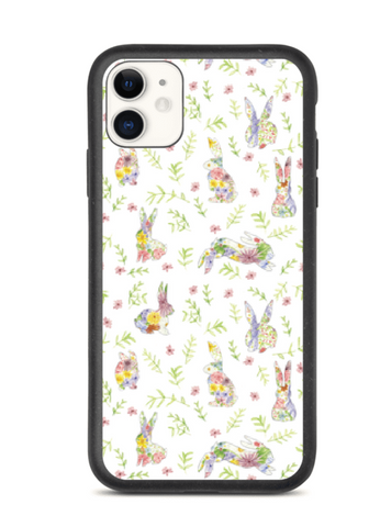 Spring Bunnies - Biodegradable Phone Cases - By Tina Schofield