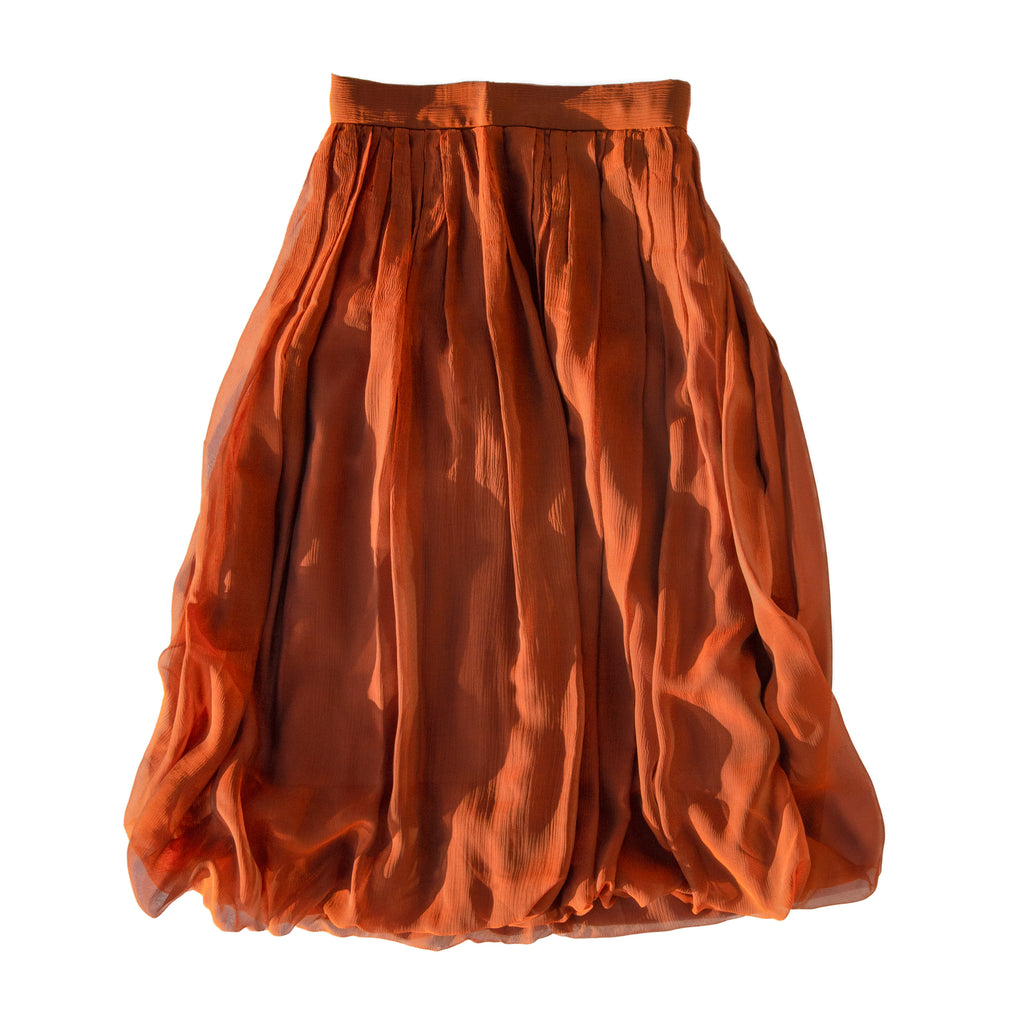 Silk Midi Skirt - Karn Goode