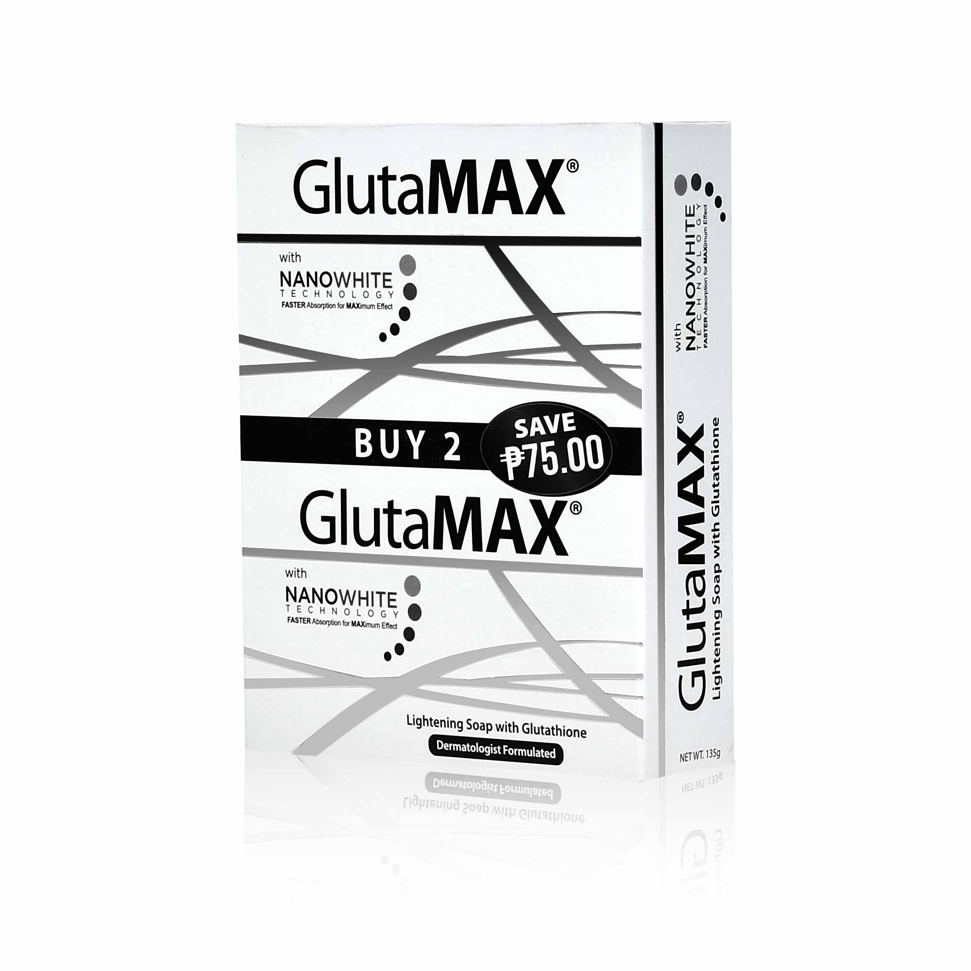 GlutaMAX Soap 135g with Nano White Technology (Duo Pack)