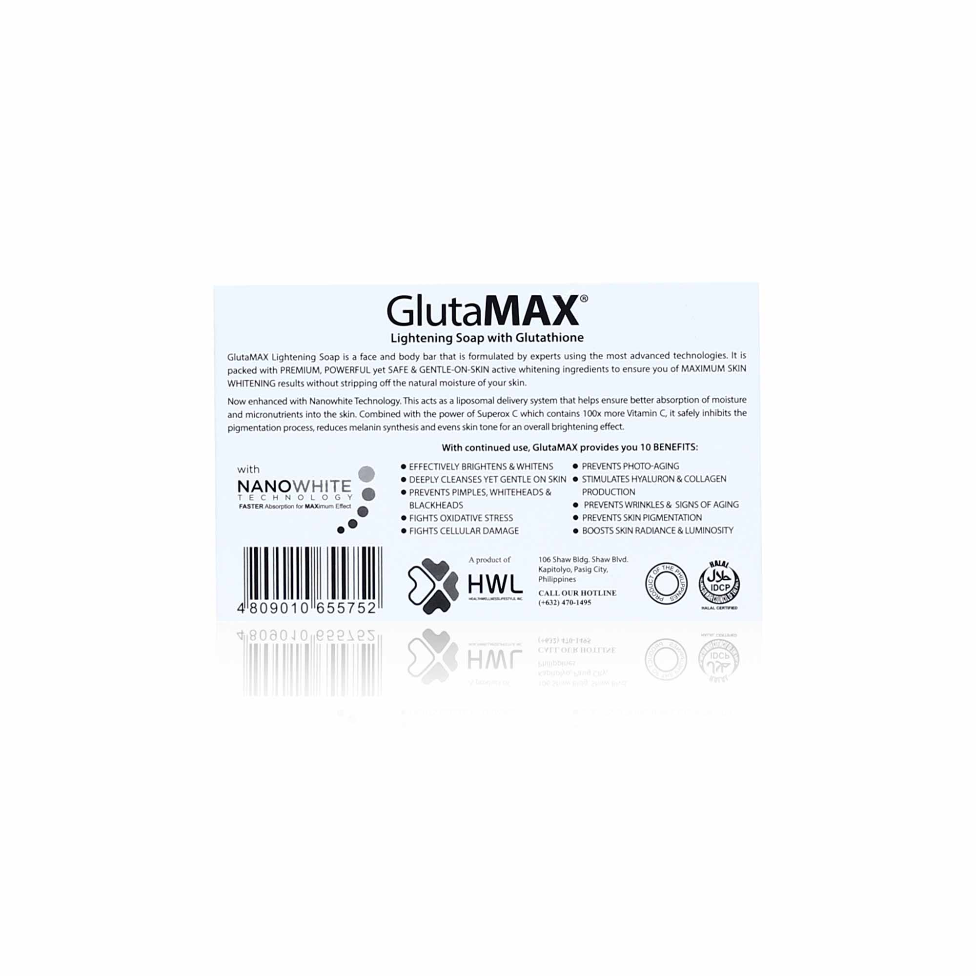 GlutaMAX Soap 135g with Nano White Technology