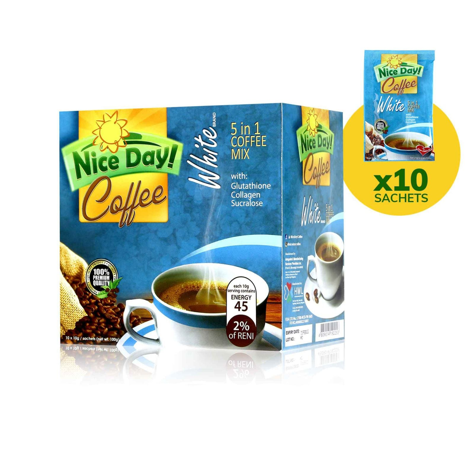 Nice Day Coffee Whitening Coffee 10 Sachets