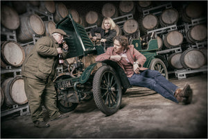 Hattingley Valley Vintage Car Photo Shoot With Simon Robinson and Head Winemaker Emma Rice