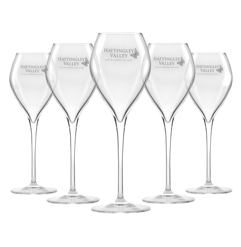 Hattingley Valley Premium Sparkling Jamesse Glass Flutes for English Wine