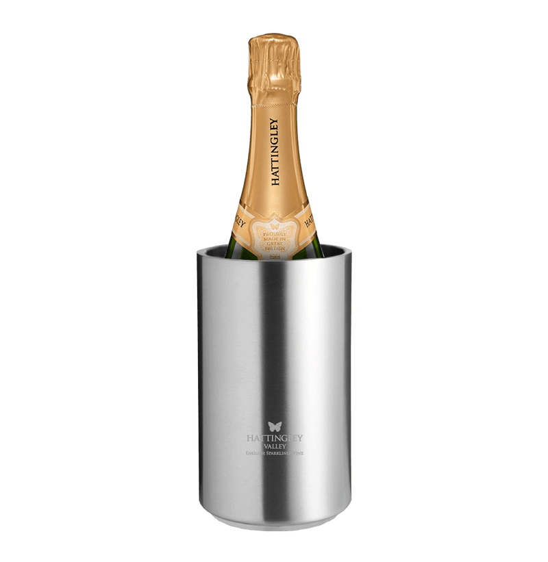 Hattingley Valley stainless steel double-walled wine cooler