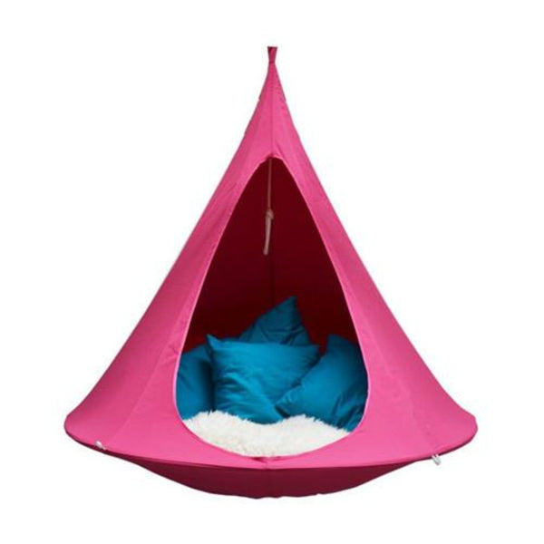 Pink waterproof hanging ufo flying saucer cocoon camping tent