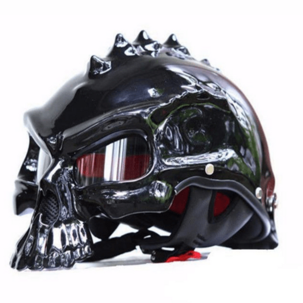 Unique Retro Designer Skull Limited Edition Motorcycle Bike Helmet-Vehicle Accessories-radekus