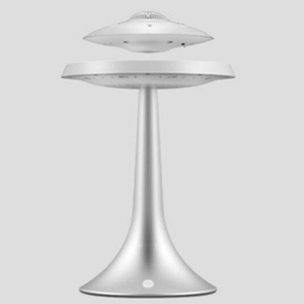 Silver UFO Magnetic Levitating Speakers