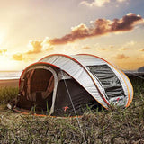 Gray Automatic Tent For Camping
