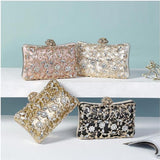 Ornate Pattern Beaded Rhinestone Clutch Bag For Women-Bags & Clutches-radekus