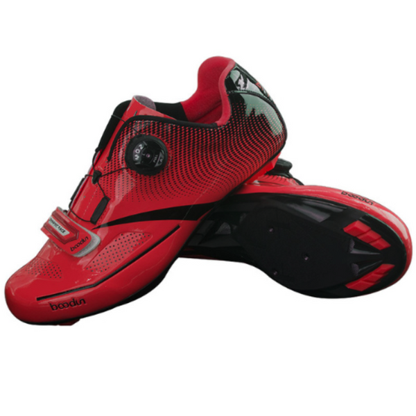 Biking Cycling self locking red shoes from radekus