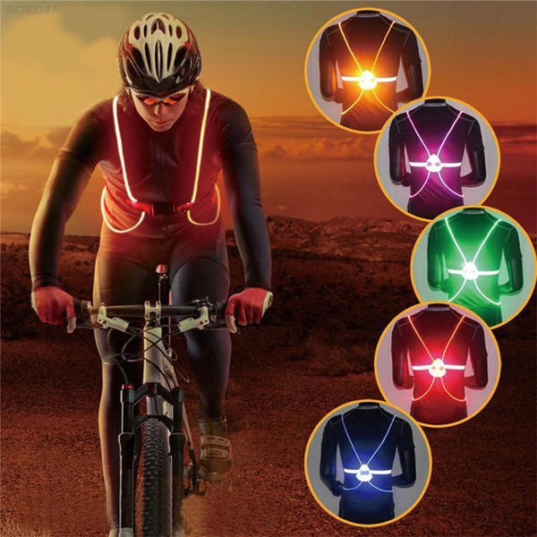 Reflective Light Up LED 360 Visibility Vest For Night Time Activities-outdoors-radekus