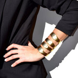 Four Row Gold Silver Plated Designer Cuff-Cuffs, Bracelets & Rings-radekus