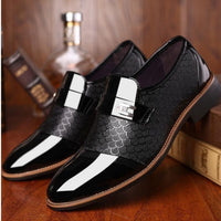 Black Classic PU Leather Shoes For Men